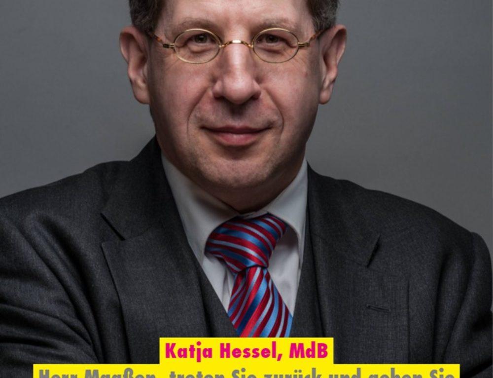 MdB Katja Hessel fordert den Rücktritt von Hans-Georg Maaßen