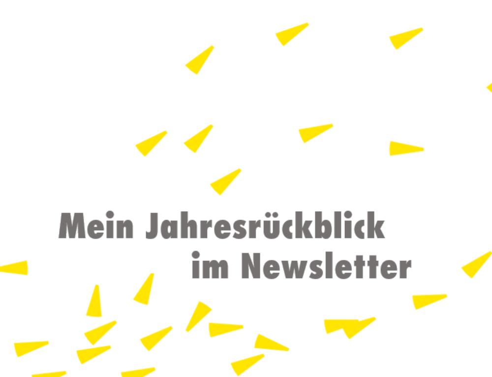 Mein Jahresrückblick im Newsletter