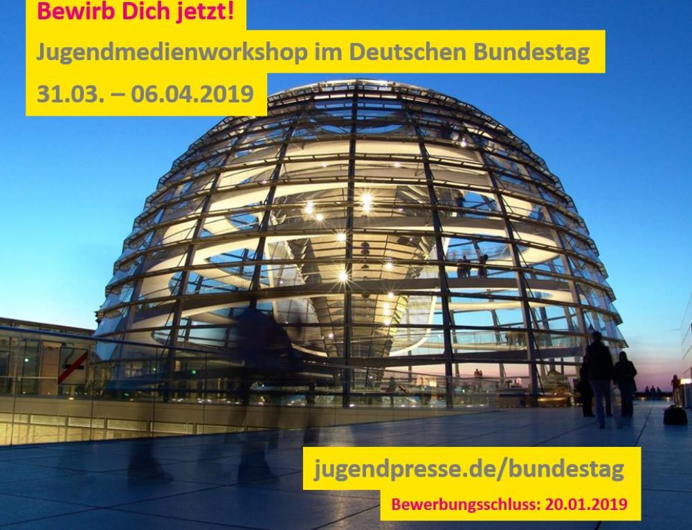 Jugendmedienworkshop im Deutschen Bundestag