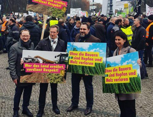 Wir stehen an der Seite der Bauern – Bauernproteste in Nürnberg